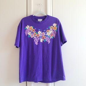 '93 Purple Floral Vintage T-Shirt